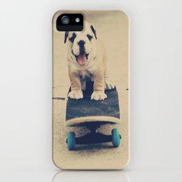 English Bulldog Rollin' iPhone Case