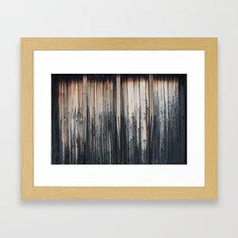 Weathered wood wall Framed Art Print