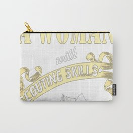 Woman With Scouting Skills Carry-All Pouch