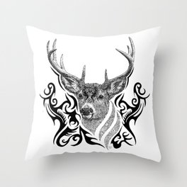 Yggdrasil Stag  Throw Pillow