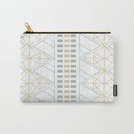 Gold Aqua Geometric Pattern 1.0 Carry-All Pouch