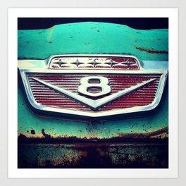 Vintage Ford V8 Art Print