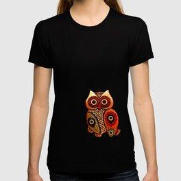 Retro Wood Owl T-shirt