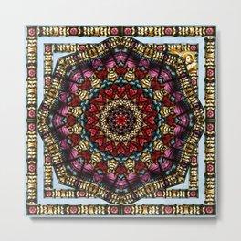 Angel Window Kaleidoscope Metal Print