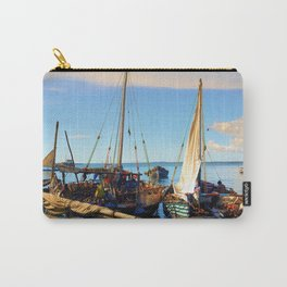 Dhow Boats Stone Town Port Zanzibar Carry-All Pouch