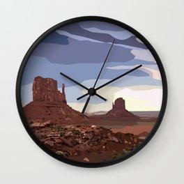 Kayenta, Monument Valley, Arizona Travel Poster Wall Clock