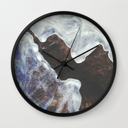 Patterned River Ice Wall Clock