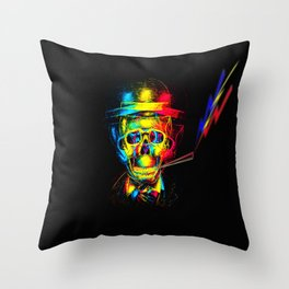 DarkBlack Throw Pillow