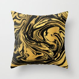 Black and Gold Marble Edition 2 Throw Pillow