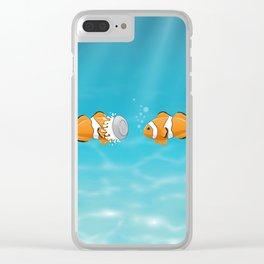Clown fish Clear iPhone Case