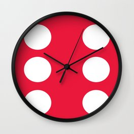 Red Dice 6 Wall Clock