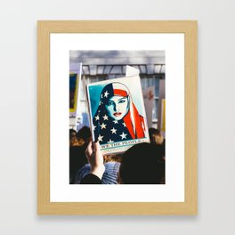 We the People - Women's March London Framed Art Print