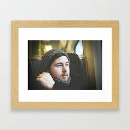 The Irish man from the train Framed Art Print