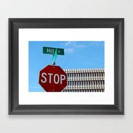 Hill St.     Ann Arbor, Michigan Framed Art Print