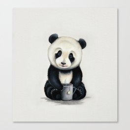 Tea Panda Canvas Print