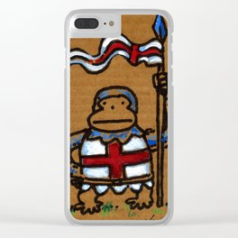 Templar Ape with Spear Clear iPhone Case