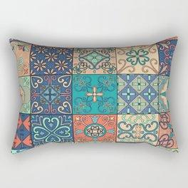 Arabic tile pattern Rectangular Pillow