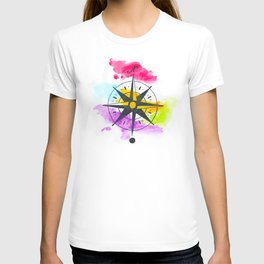 Watercolor Compass T-shirt