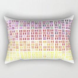Pencil Mosaic #1 Rectangular Pillow