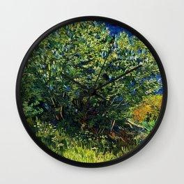 Lilac Bush by Vincent van Gogh Wall Clock