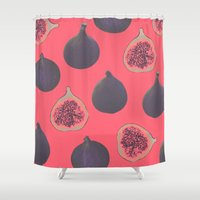 fig Shower Curtains featuring Fig pattern by Georgiana Paraschiv