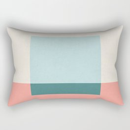 Blue Square Rectangular Pillow