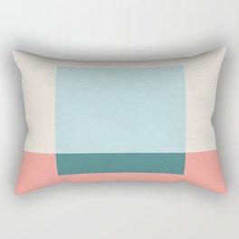 Blue Square Rectangular Pillow