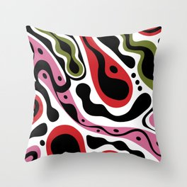 Beat Goes On - red and pink Throw Pillow