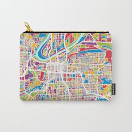 Kansas City Missouri City Map Carry-All Pouch