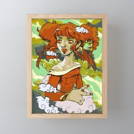 Fall Time Fiona (Painting) Framed Mini Art Print