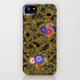 Art Deco Inlay Fans iPhone Case