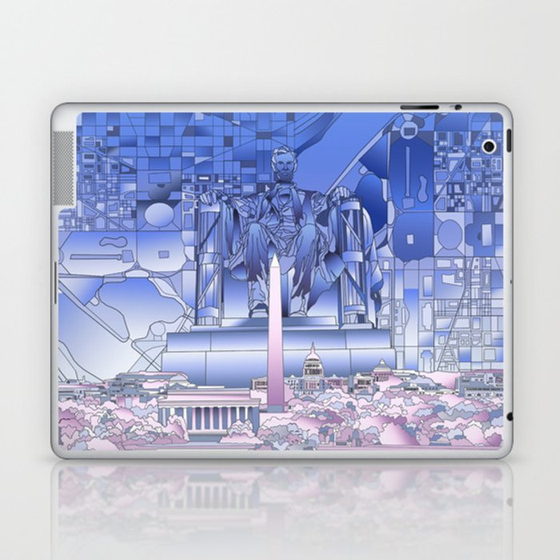 washington dc city skyline Laptop & iPad Skin