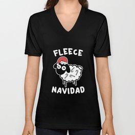 Fleece Navidad Unisex V-Neck