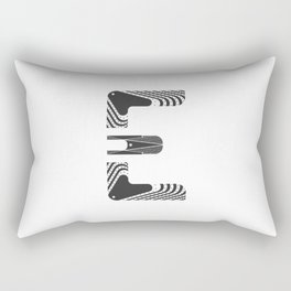 "Tao ""Letter E"" Rectangular Pillow"