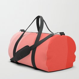 Cool Geometric Living Coral Gradient abstract Duffle Bag