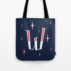 Stars W Drop Capital Tote Bag