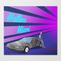 hotline miami Canvas Prints featuring Hotline Miami: Jacket by Paul Scott (Dracula is Still a Threat)