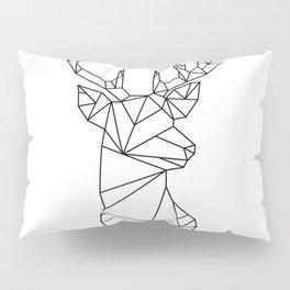 Geometric Stag (Black on White) Pillow Sham