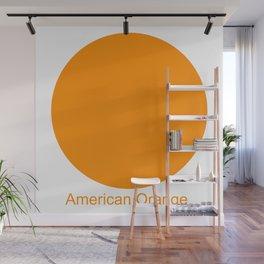 American Orange Wall Mural
