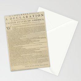 United States Declaration of Independence (Dunlap Broadside Print Copy, 1776) Stationery Cards