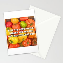 Cheerful Tomatoes - colorful quote Stationery Cards