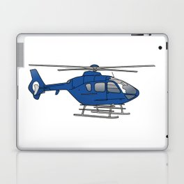 Blue helicopter Laptop & iPad Skin