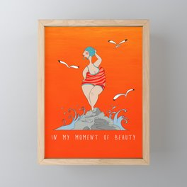 Total beauty Framed Mini Art Print