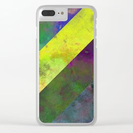 45 Degrees - Abstract, textured, diagonal stripes Clear iPhone Case