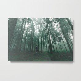Foggy Eifel Forest Metal Print