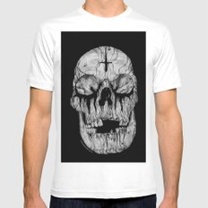 Black blooded White MEDIUM Mens Fitted Tee