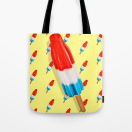 Red White and Blue Rocket Pop Pattern Tote Bag