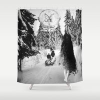 pagan Shower Curtains featuring Pagan forest by Kristina Haritonova