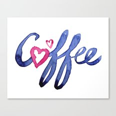 Coffee Lover Typography Canvas Print