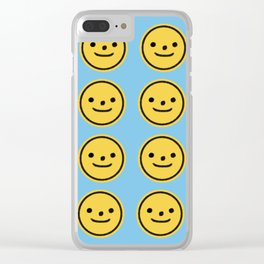put on a happy face Clear iPhone Case